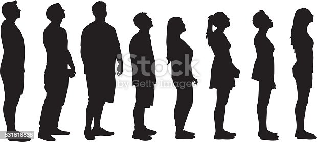 People Looking Up Silhouettes Stock Vector Art & More ...