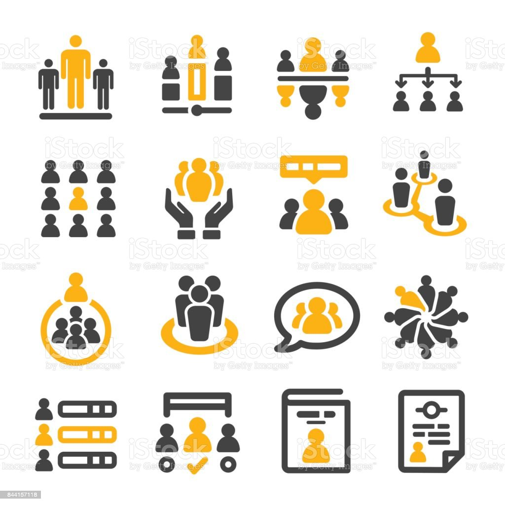people management icon vector art illustration
