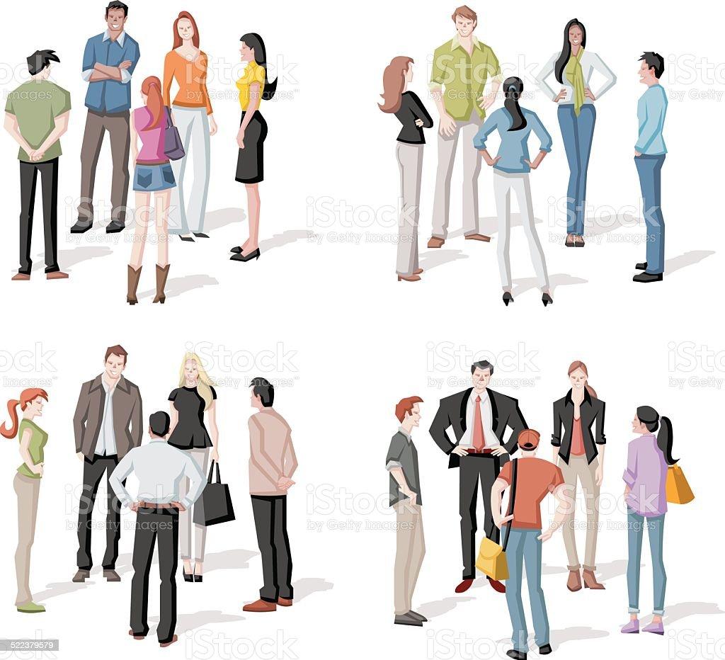 Menschen treffen – Vektorgrafik