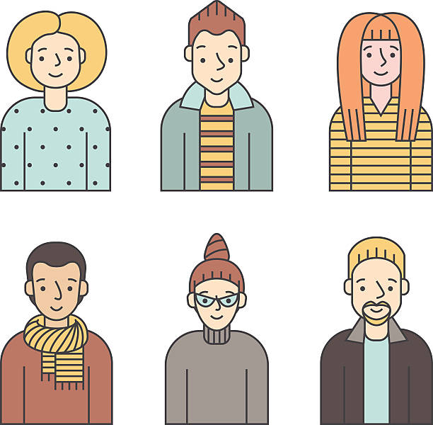 people multicolored icons vector set (men and women). part five. - old man long beard silhouettes stock illustrations, clip art, cartoons, & icons