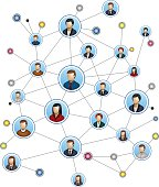 A network with people icons