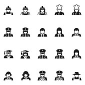 People occupation icon set