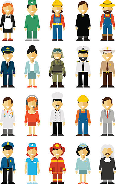 People Occupations Jobs And Community At: Royalty Free Work Uniform Clip Art, Vector Images