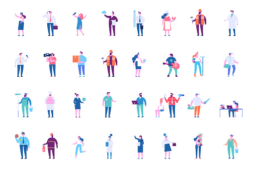 People of different occupations big vector set