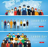 People of different occupations. Professions set. International Labor Day. Vector