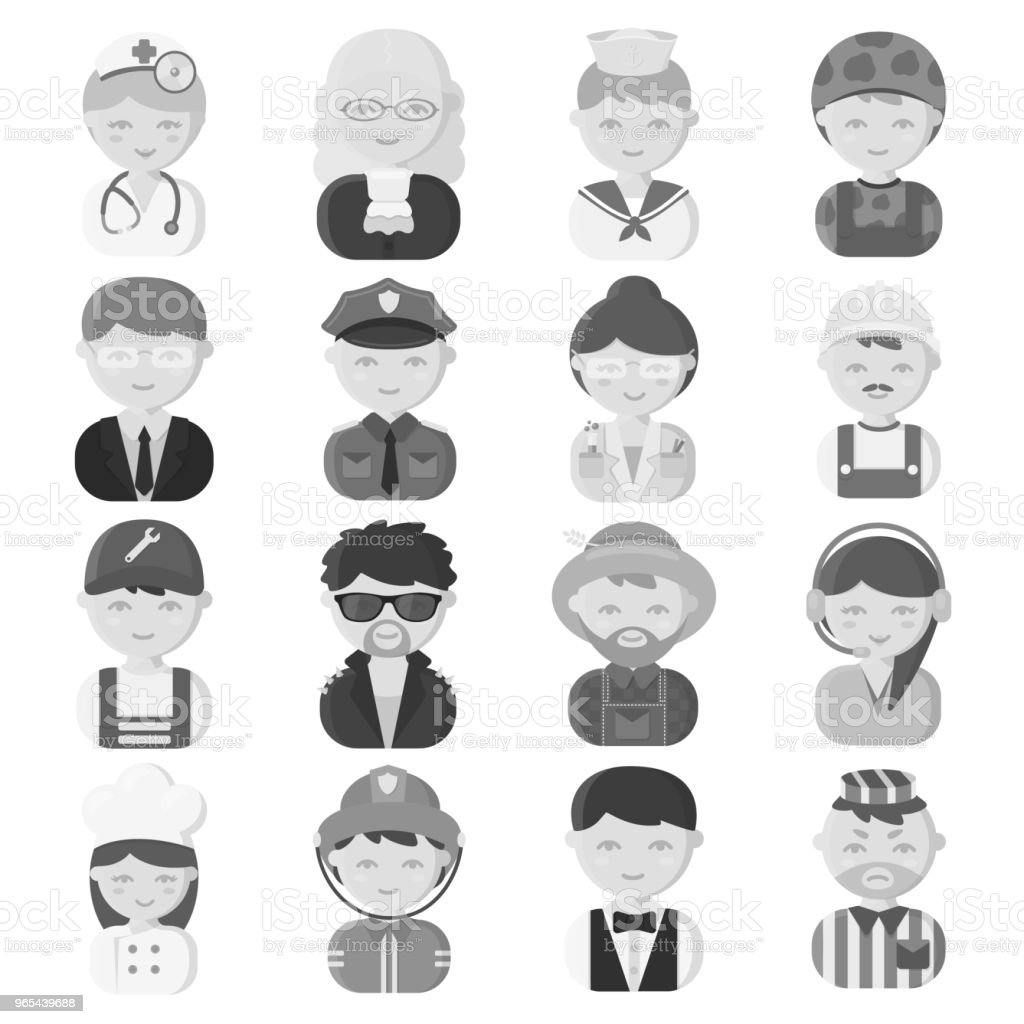 People of different professions monochrome icons in set collection for design. Worker and specialist vector symbol stock web illustration. people of different professions monochrome icons in set collection for design worker and specialist vector symbol stock web illustration - stockowe grafiki wektorowe i więcej obrazów biznes royalty-free