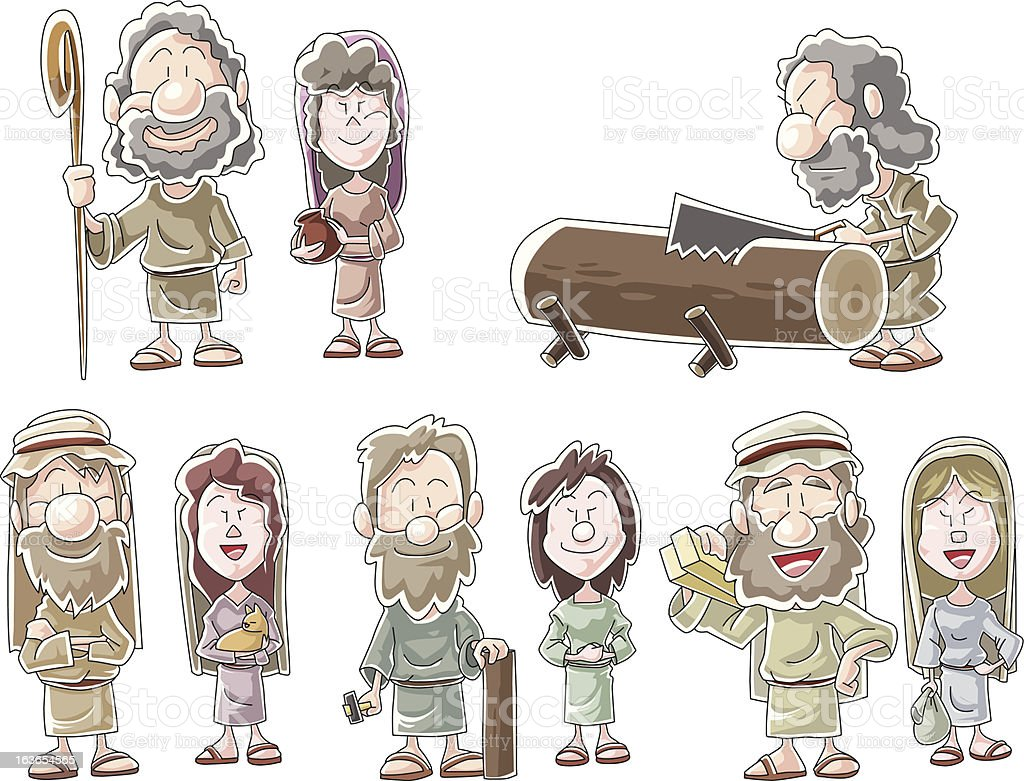 People of Noah's ark royalty-free stock vector art