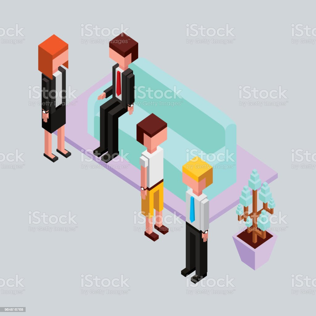 people office break in sofa with plant isometric royalty-free people office break in sofa with plant isometric stock vector art & more images of adult