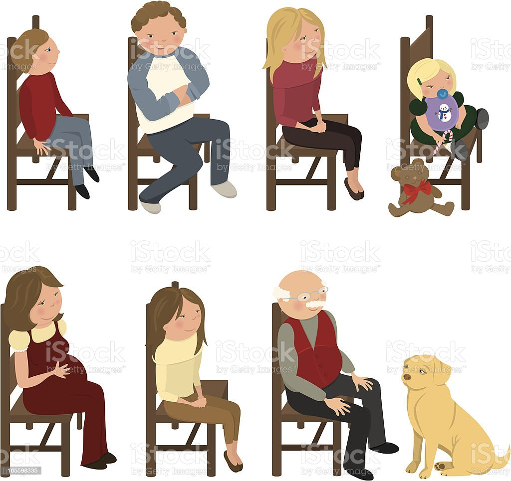 People on Chairs royalty-free people on chairs stock vector art & more images of 14-15 years
