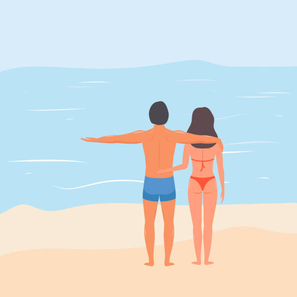 Top Nude Beach Couples vector images, illustrations, and clip art