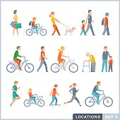 Activities. Isolated vector illustrations. Flat icon set.