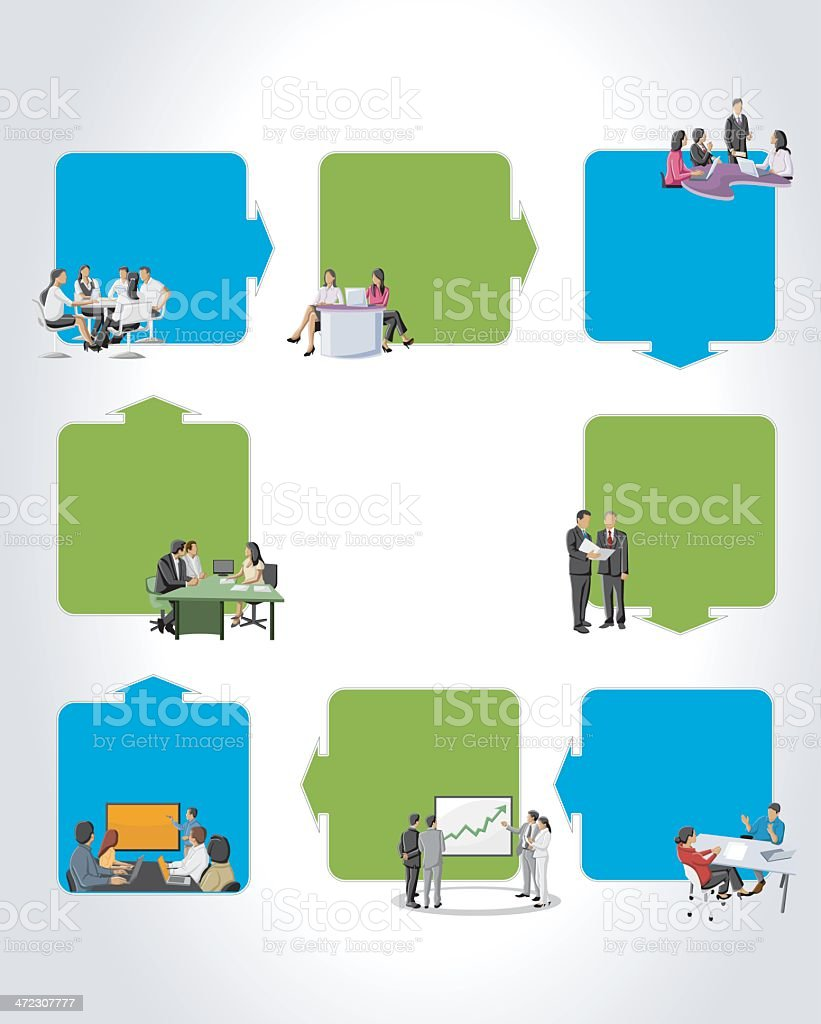 people on work process royalty-free stock vector art