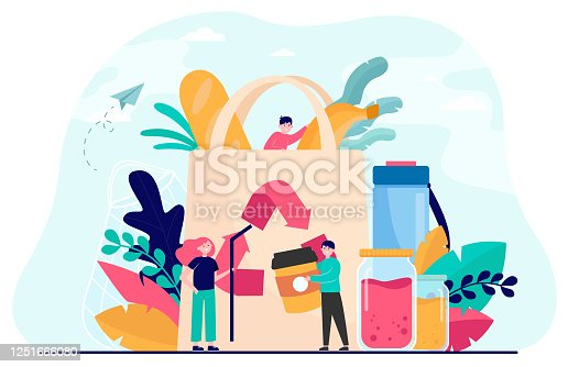 istock People packing organic food into eco bag 1251666080
