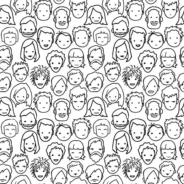 people pattern - old man standing background stock illustrations, clip art, cartoons, & icons