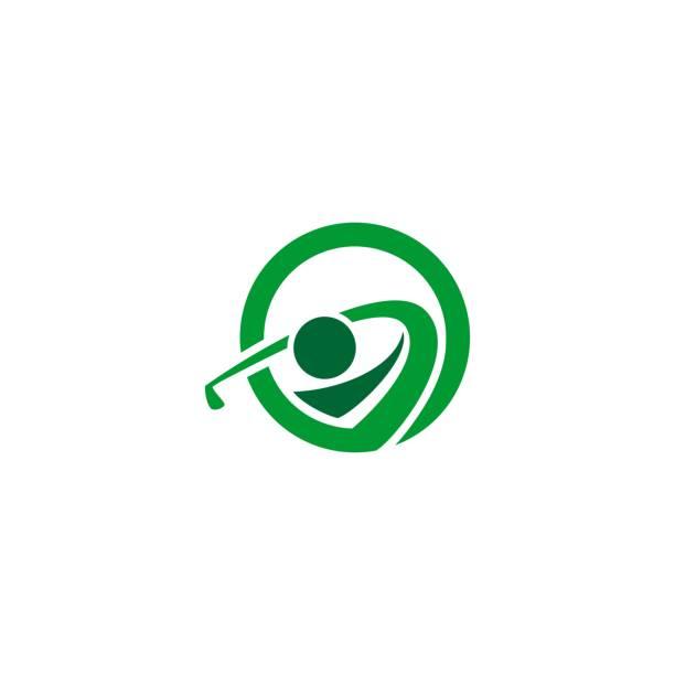 people playing golf logo. sports symbol people playing golf logo. sports symbol golf logo stock illustrations