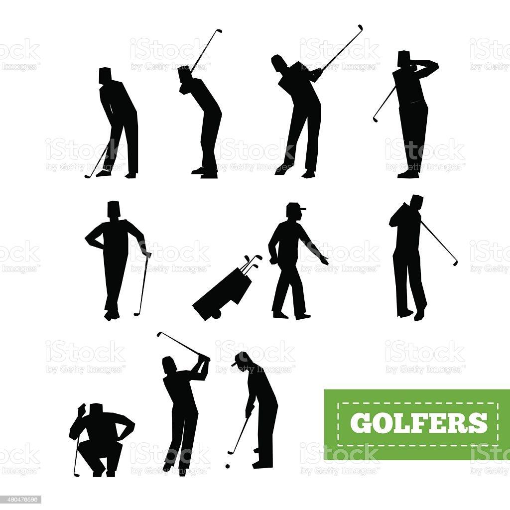 Ilustración de Gente Jugando Al Golf Vector De Eficacia Swing Con Un ...