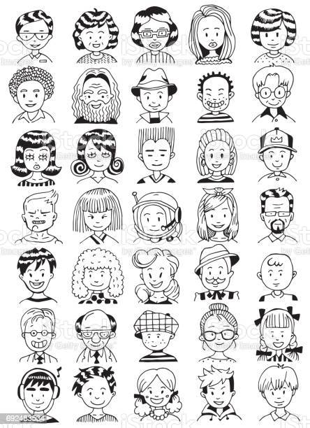 People portrait set collection of various men and women faces hand vector id692483534?b=1&k=6&m=692483534&s=612x612&h=i6jls3budao9xz9kxfw2rkcm2  zvxiezrcg8vcgyqa=