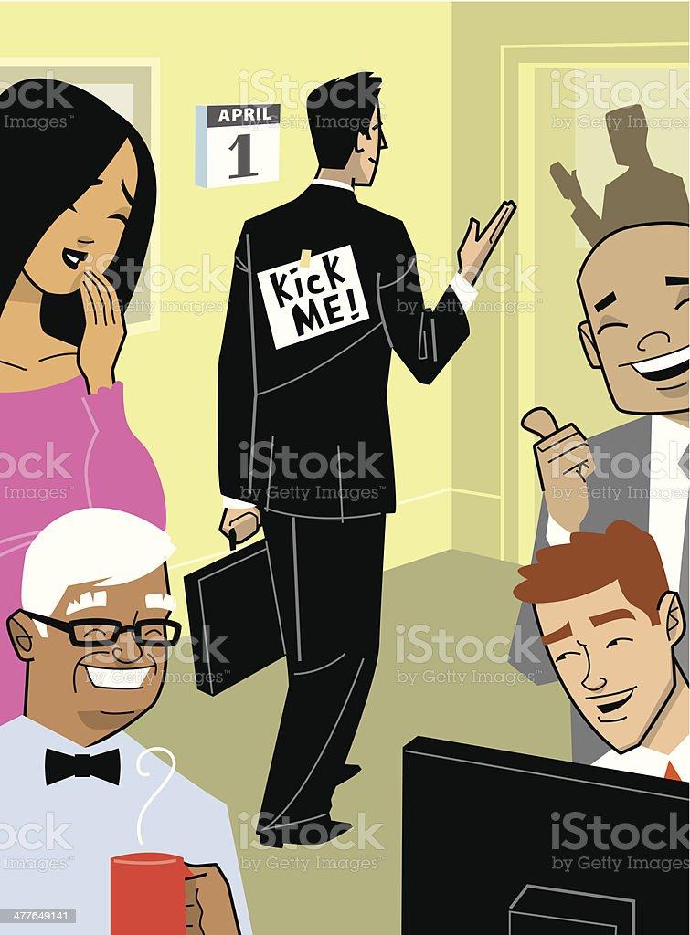 People Prank vector art illustration