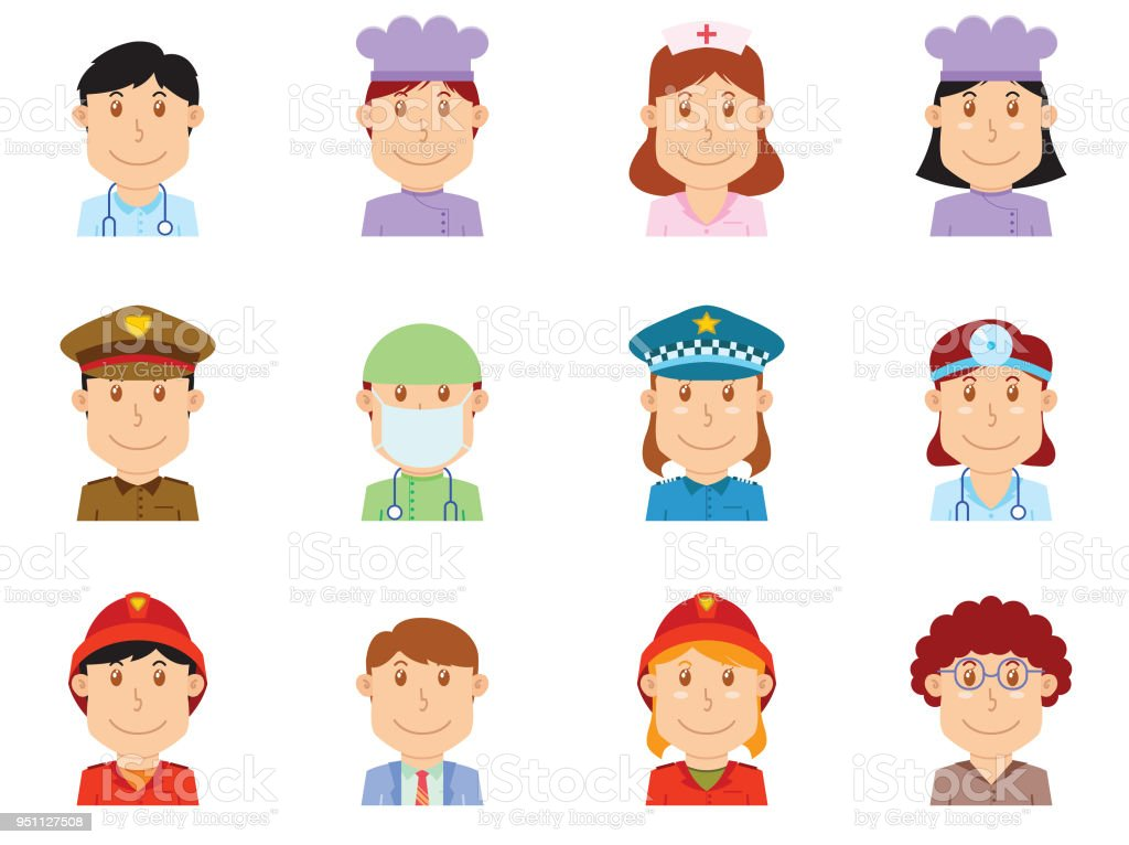 people profession avatar part one. available in vector eps 10 file