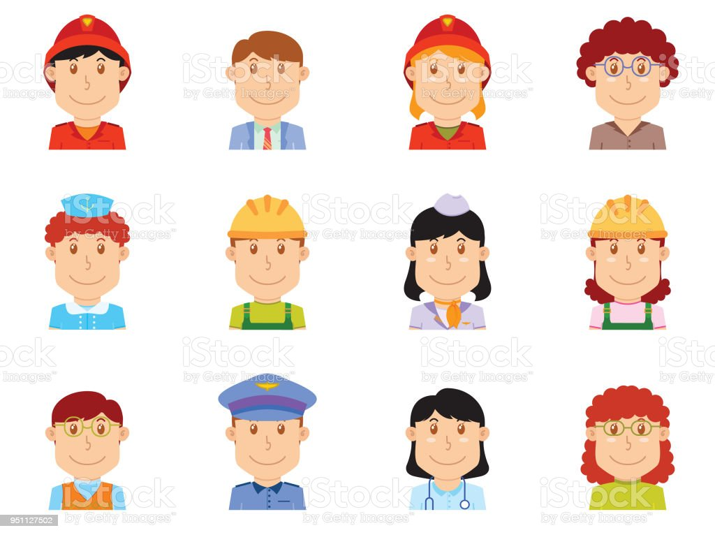 people profession avatar part two. available in vector eps 10 file