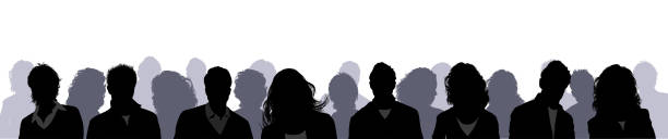 people profile silhouettes - head and shoulders stock illustrations, clip art, cartoons, & icons