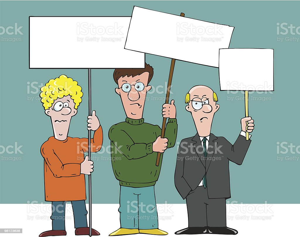 people protesting royalty-free people protesting stock vector art & more images of adult