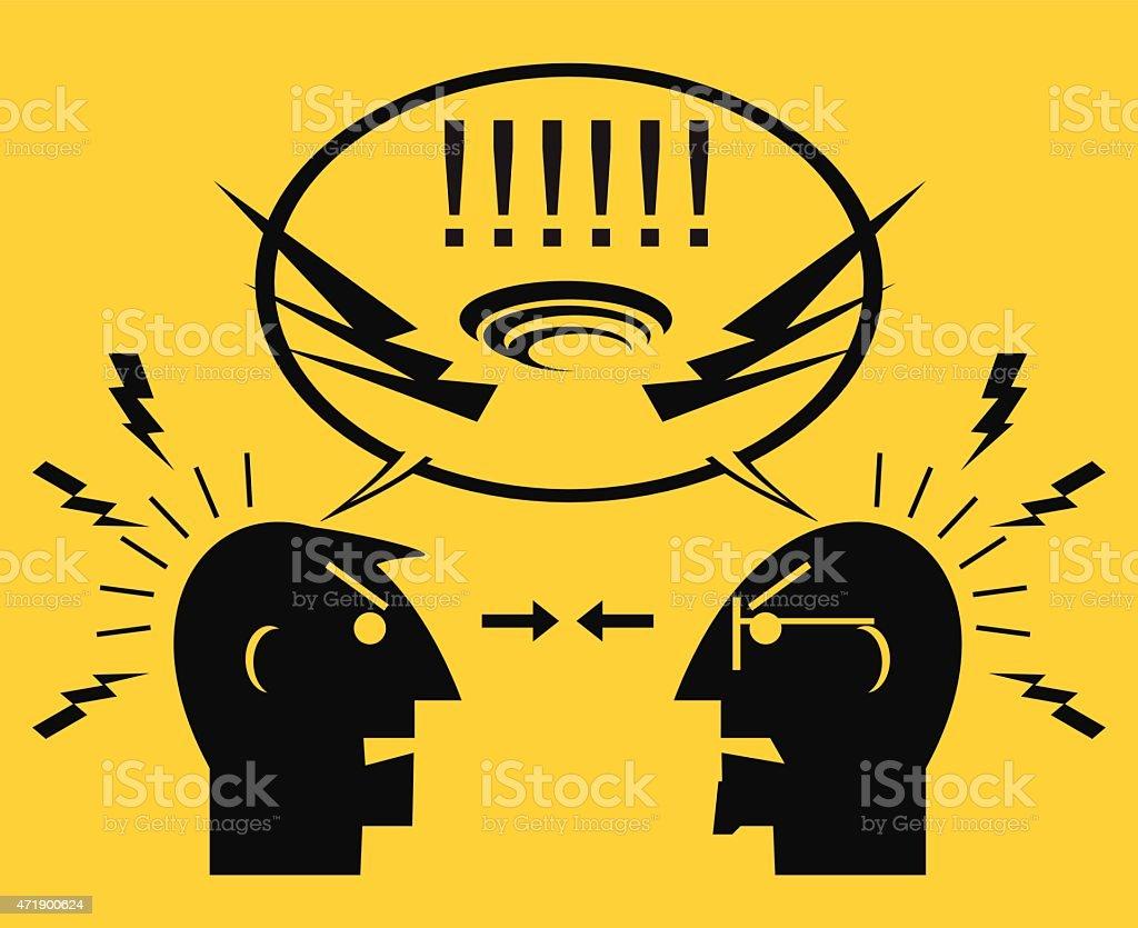 People quarreling. Confrontation. vector art illustration