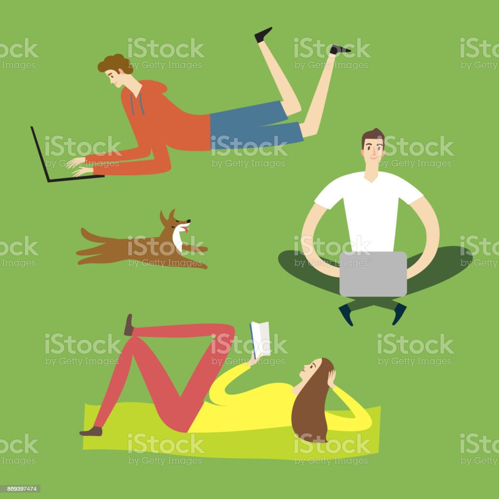 top 60 reading in the park clip art vector graphics and rh istockphoto com