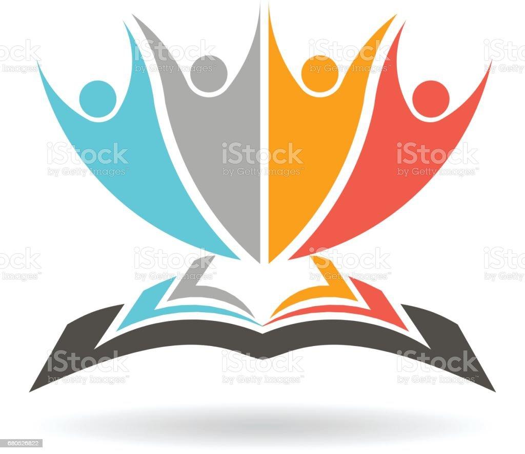 People Reading Books illustration vector art illustration
