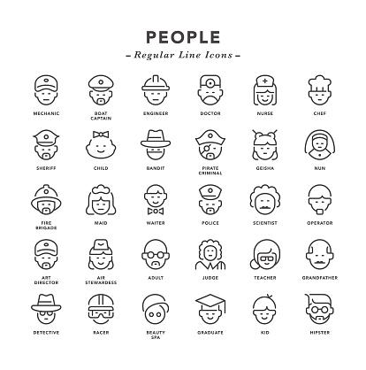 People - Regular Line Icons