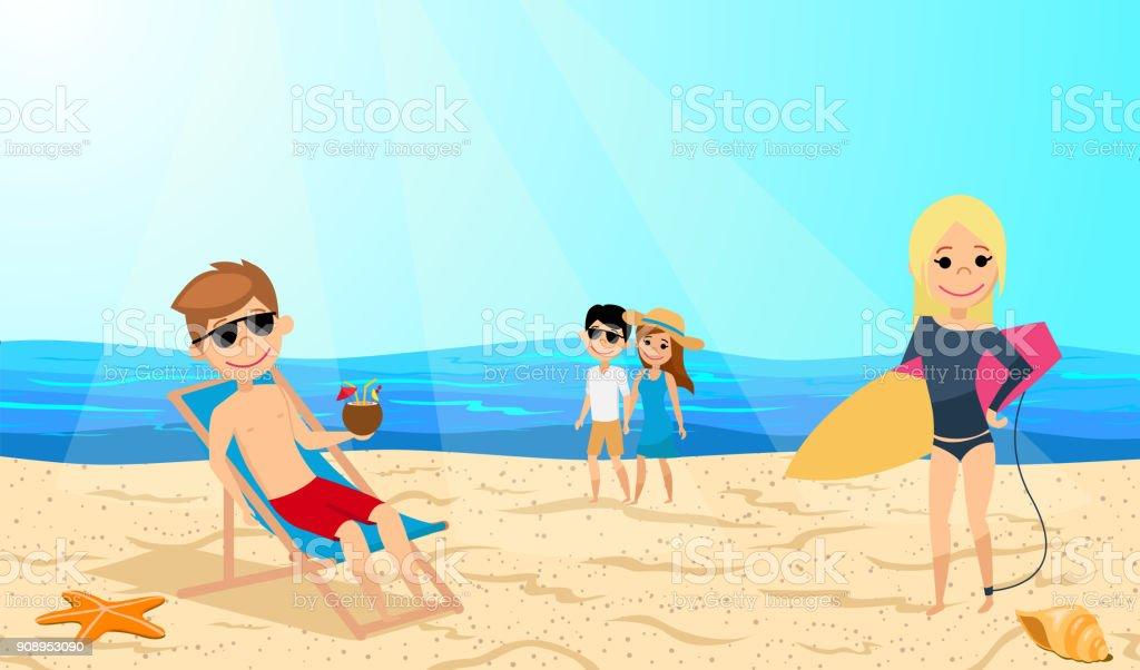Ställen att koppla av på stranden