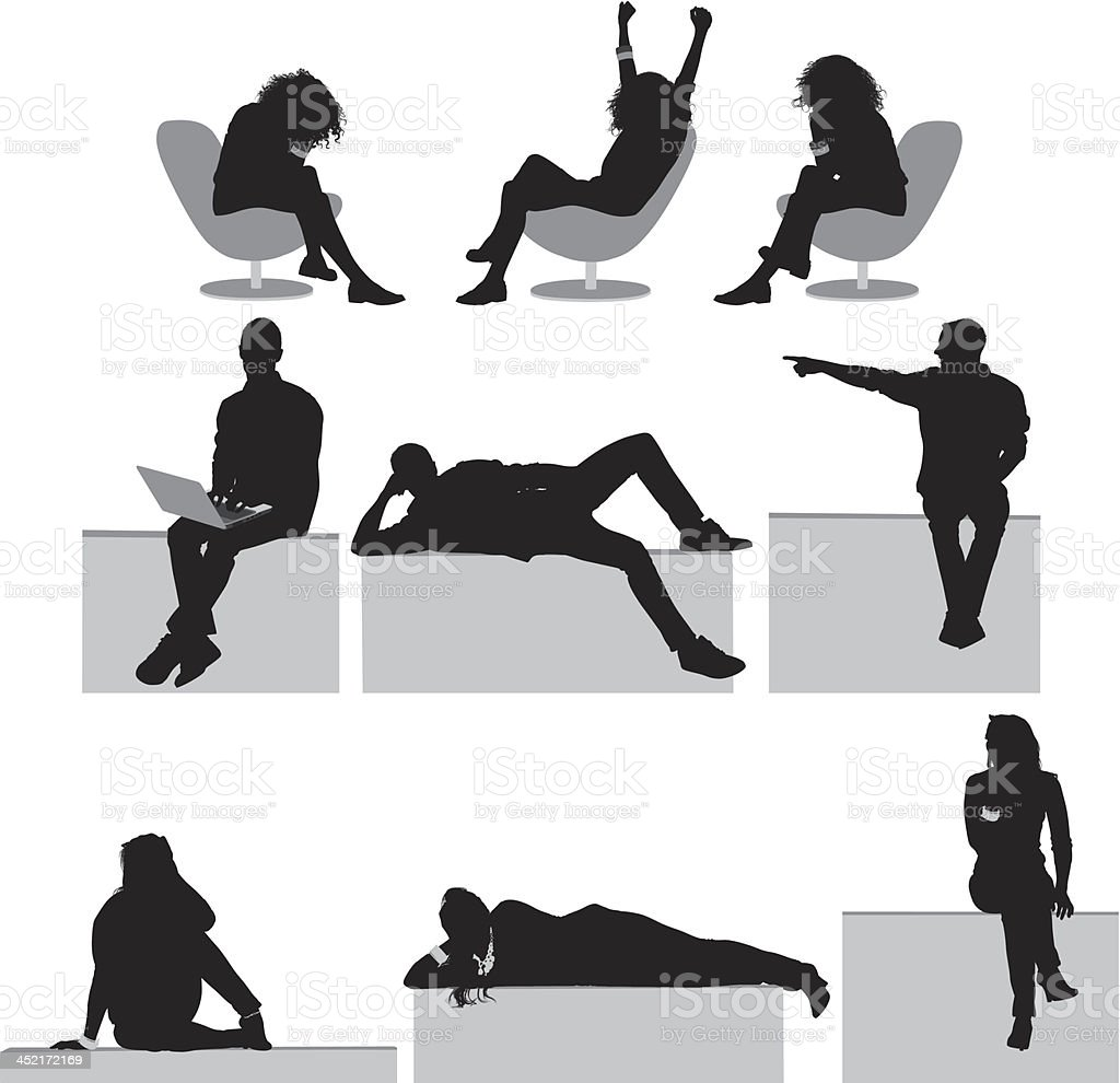 People resting royalty-free stock vector art