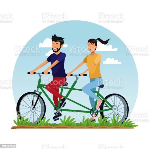 Människor Ridning Cyklar-vektorgrafik och fler bilder på Avkoppling