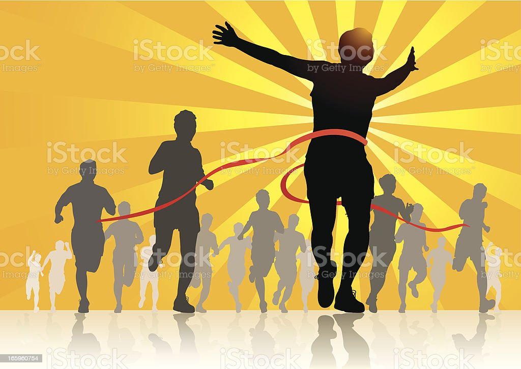 People Running royalty-free people running stock vector art & more images of achievement