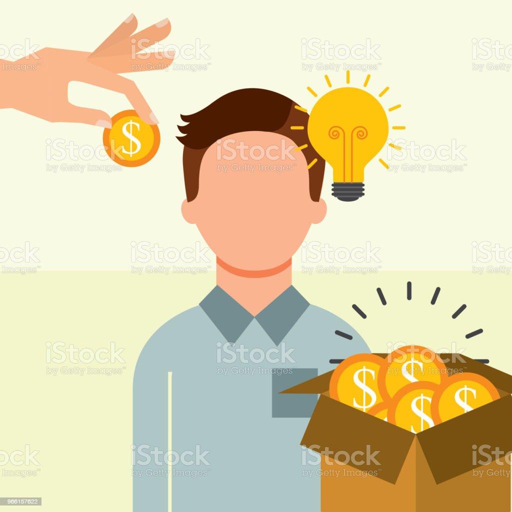 Menschen, die Geld sparen - Lizenzfrei Bank Vektorgrafik