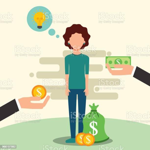 People Saving Money — стоковая векторная графика и другие изображения на тему Банк
