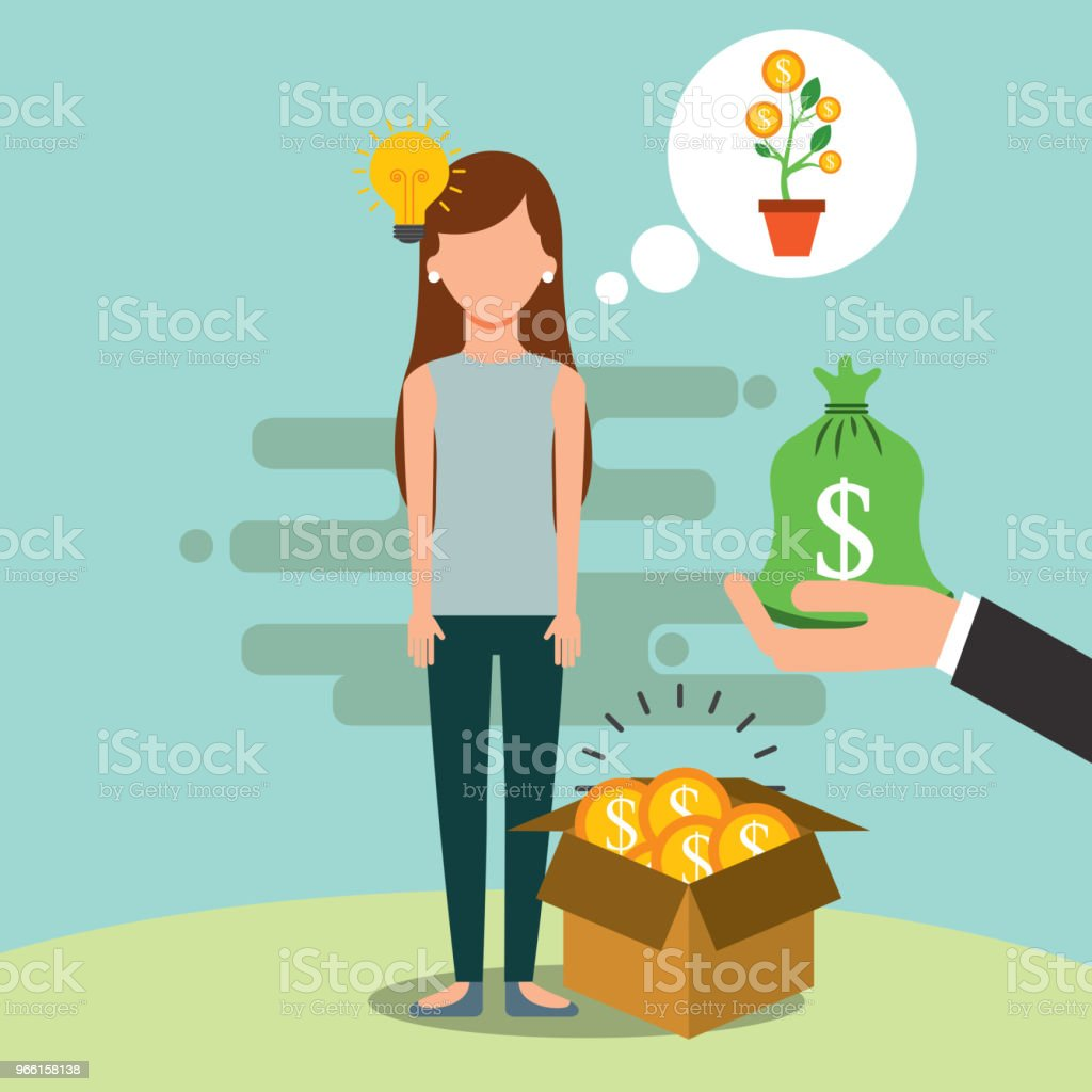 people saving money - Royalty-free Adult stock vector