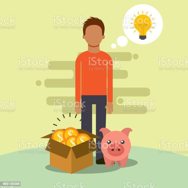 Människor Som Sparar Pengar-vektorgrafik och fler bilder på Affärsman