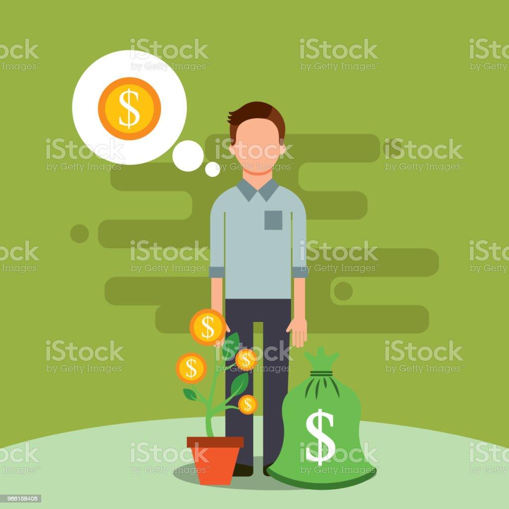people saving money - Royalty-free Adult stock vector