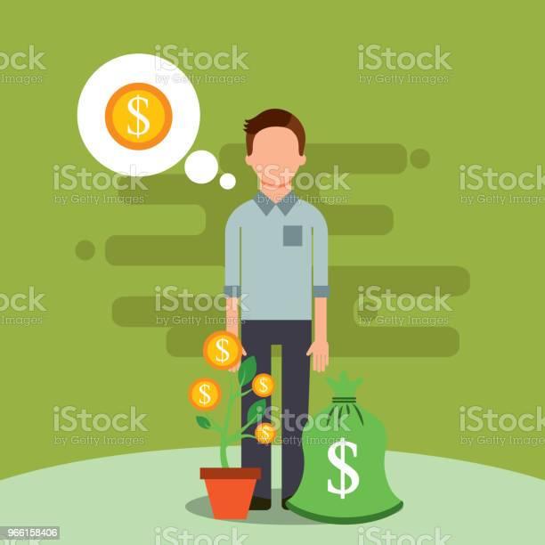 People Saving Money Stock Illustration - Download Image Now