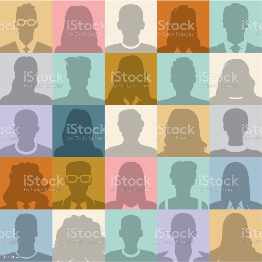 People seamless background. vector art illustration
