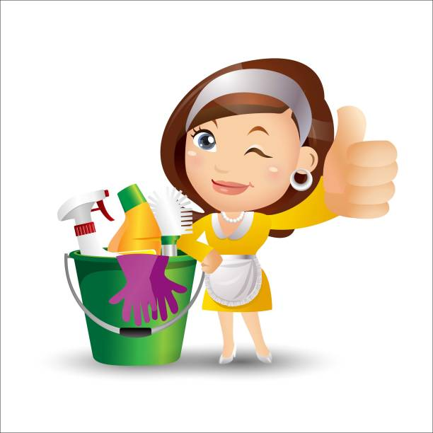 18 631 Cleaning Lady Illustrations Clip Art Istock
