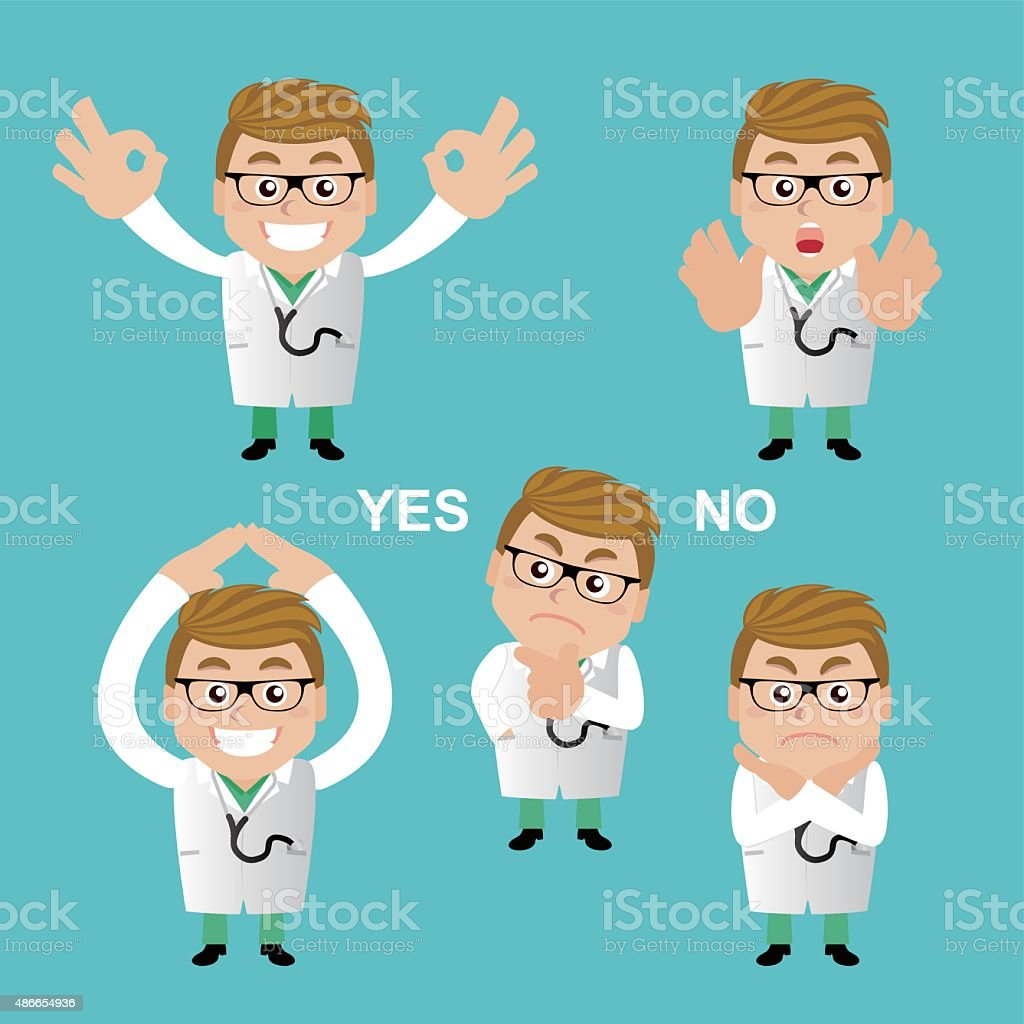 People Set - Profession - Doctor in different poses