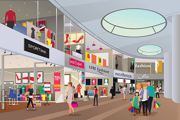 Top Shopping Mall Clip Art, Vector Graphics and ...