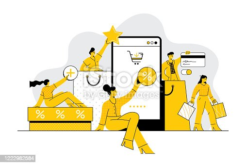 istock People shopping online concept 1222982584