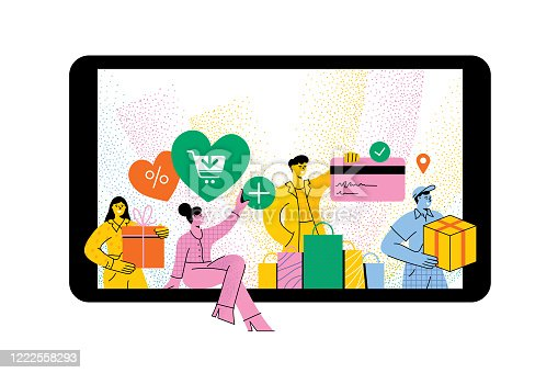 istock People shopping online 1222558293