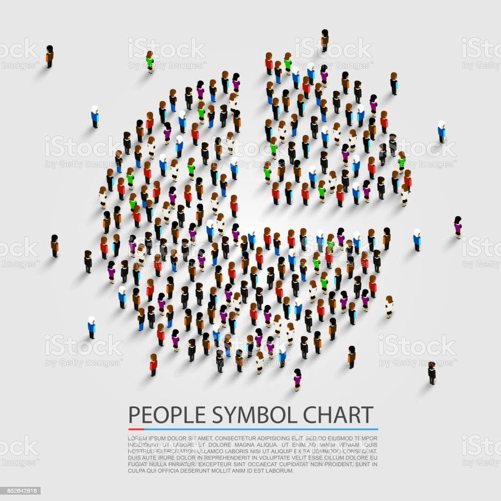 People sign chart, People cover. vector art illustration