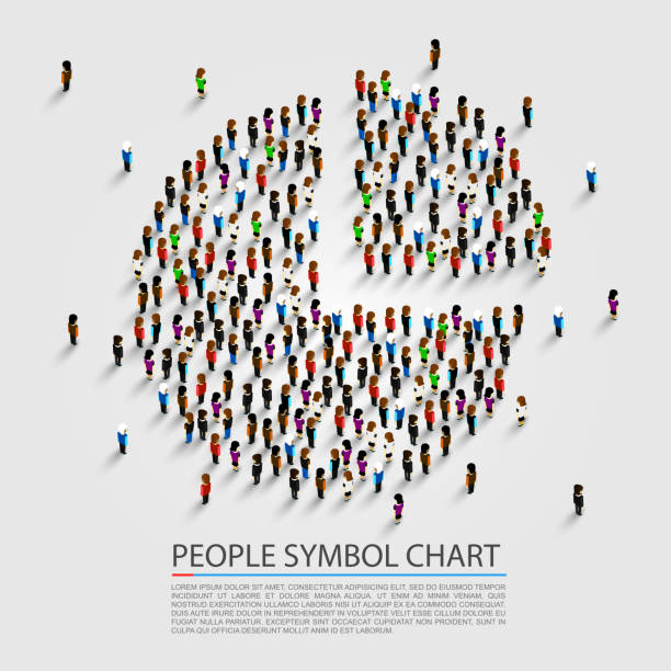people sign chart, people cover. - demographics infographics stock illustrations, clip art, cartoons, & icons