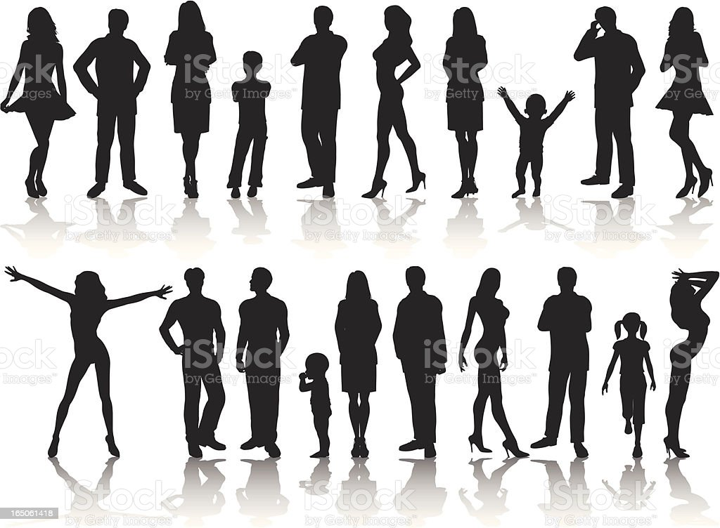 People Silhouette Collection vector art illustration