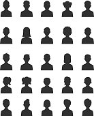 People silhouette icon set
